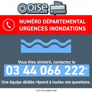 Numéro d'urgence pour les inondations